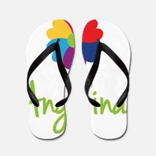 Angelina-Heart-Flower Flip Flops