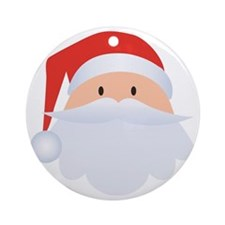 Santa Head  Round Ornament