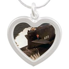 hlstimson lare framed print Silver Heart Necklace