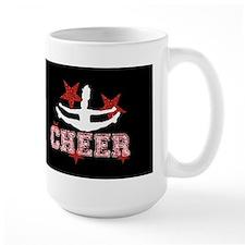 Cheerleader in black and red Mugs