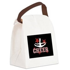 Cheerleader in black and red Canvas Lunch Bag