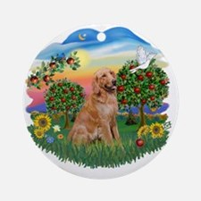 Bright Country - Golden 1 Round Ornament