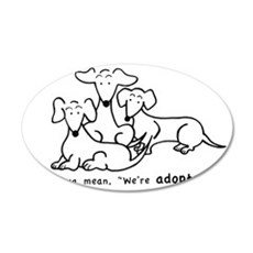 Adopted?1 35x21 Oval Wall Decal