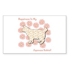 Bobtail Happiness Rectangle Decal