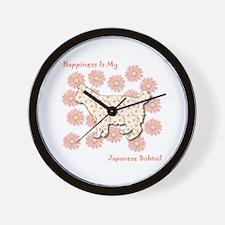 Bobtail Happiness Wall Clock