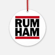 Rum Ham DMC_light Round Ornament