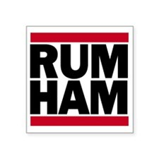 "Rum Ham DMC_light Square Sticker 3"" x 3"""