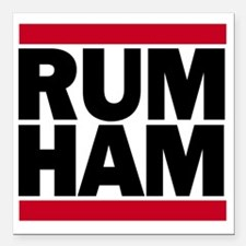 "Rum Ham DMC_light Square Car Magnet 3"" x 3"""