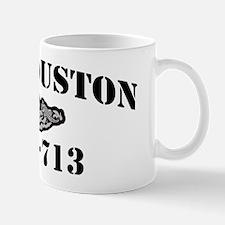 houston black letters Mug