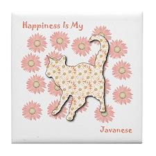Javanese Happiness Tile Coaster