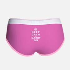 KEEP CALM or CARRY ON wt Women's Boy Brief