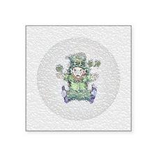 "Squished Leprechaun Coaster Square Sticker 3"" x 3"""