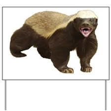 Honey Badger Cut-out cropped Yard Sign