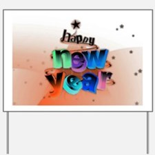new year 8 Yard Sign