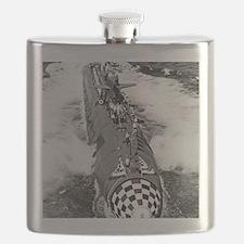 tecumseh framed panel print Flask