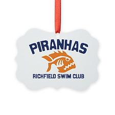 piranhas white solid Ornament