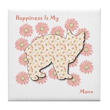 Manx Happiness Tile Coaster