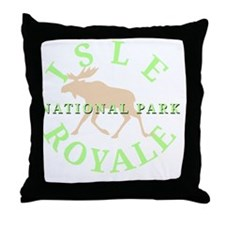 isleroyalenationalpark-white Throw Pillow