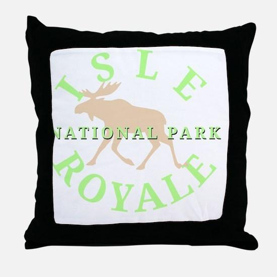 isleroyalenationalpark-white Throw Pillow