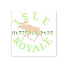 "isleroyalenationalpark-whit Square Sticker 3"" x 3"""