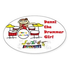 danni the drummer girl dressy-trans Decal