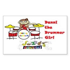 danni the drummer girl dressy- Decal