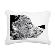 ACD Puppy Pondering Rectangular Canvas Pillow