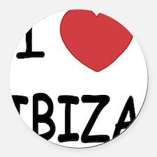 IBIZA Round Car Magnet