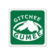 "Gitchee Gumee Square Sticker 3"" x 3"""