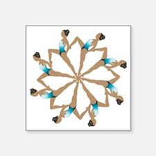 "8TeamCircle Square Sticker 3"" x 3"""