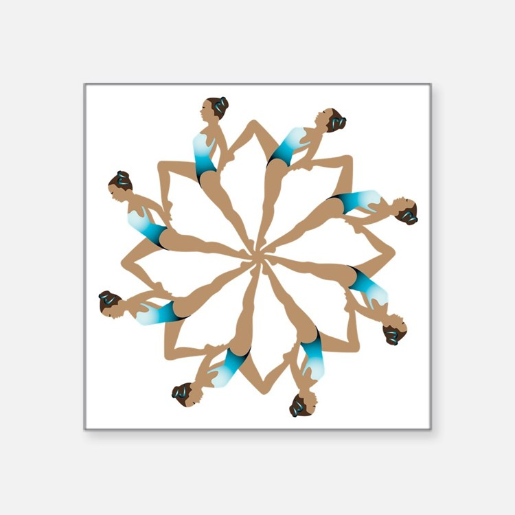 "8TeamCircle Square Sticker 3"" x 3"""