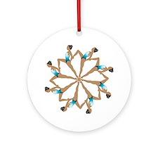 8TeamCircle Round Ornament