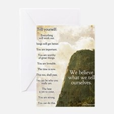 Tell yourself poster Greeting Card