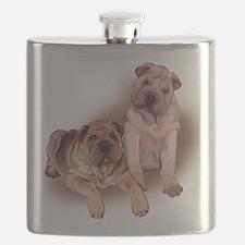 two sharpeis Flask