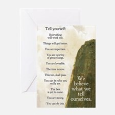 Tell yourself journal Greeting Card