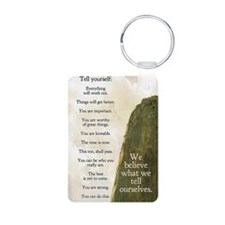 Tell yourself journal Keychains