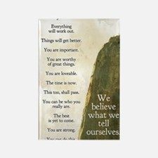 Tell yourself journal Rectangle Magnet
