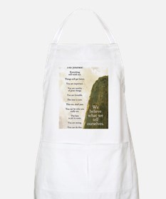 Tell yourself journal Apron