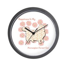 Norwegian Happiness Wall Clock