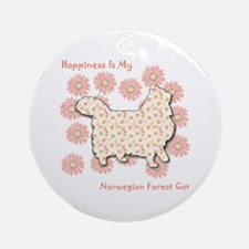 Norwegian Happiness Ornament (Round)