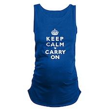 KEEP CALM n CARRY ON wt Maternity Tank Top