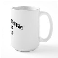 tjefferson black letters Mug