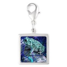 One of a Kind Toad Silver Square Charm