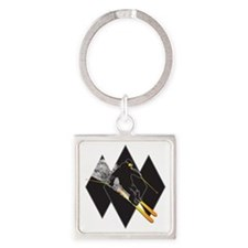 black diamond dude Square Keychain