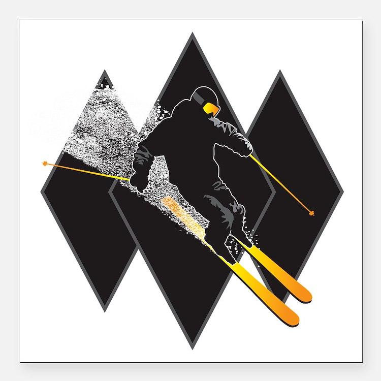"black diamond dude Square Car Magnet 3"" x 3"""