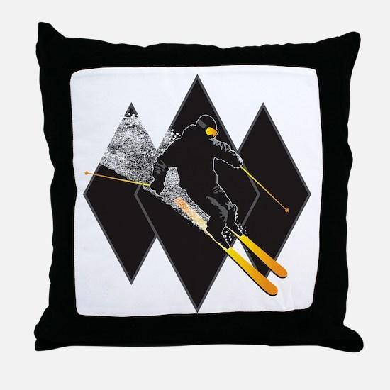 black diamond dude Throw Pillow