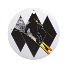 black diamond dude Round Ornament