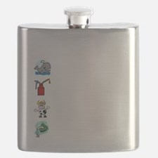 Irish Accent Wht Flask