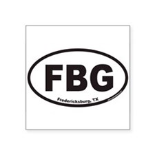 Fredericksburg Texas FBG Euro Oval Sticker