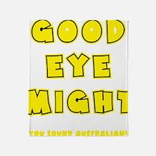 yellow, Good Eye Might, hot mustard Throw Blanket